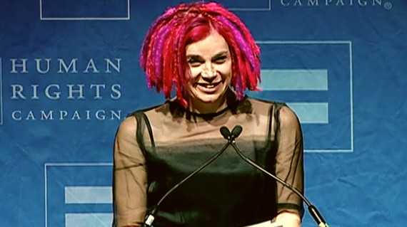 Lana Wachowski at the HRC's annual gala in 2012.